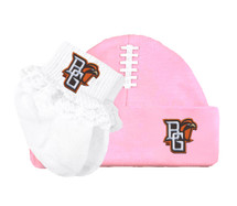 Bowling Green St. Falcons Baby Football Cap and Socks with Lace Set