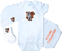 Bowling Green St. Falcons Homecoming 3 Piece Baby Gift Set