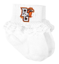 Bowling Green St. Falcons Baby Laced Sock Booties
