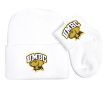 UMBC Retrievers Newborn Baby Knit Cap and Socks Set