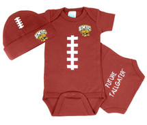 UMBC Retrievers Touchdown Football Onesie and Cap Baby Gift Set