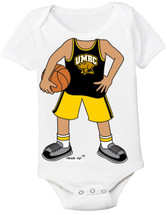 UMBC Retrievers Heads Up! Basketball Baby Onesie