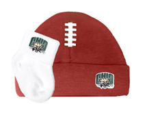 Ohio Bobcats Baby Football Cap and Socks Set