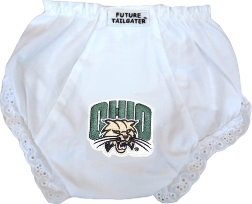 Ohio Bobcats Eyelet Baby Diaper Cover