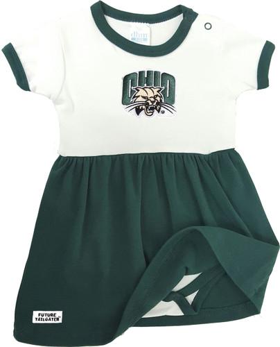 Ohio Bobcats Baby Onesie Dress