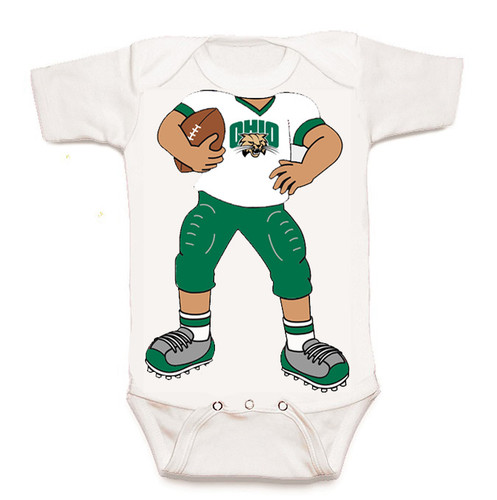 Ohio Bobcats Heads Up! Football Baby Onesie