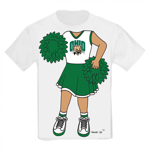 Ohio Bobcats Heads Up! Cheerleader Infant/Toddler T-Shirt