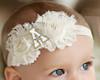 Appalachian State Mountaineers Baby/ Toddler Shabby Flower Hair Bow Headband