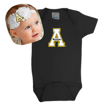 Appalachian State Mountaineers Baby Bodysuit and Shabby Bow Headband