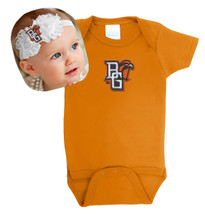 Bowling Green St. Falcons Baby Onesie and Shabby Flower Headband