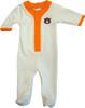 Auburn Tigers Baby Long Sleeve Baseball Style Playsuit