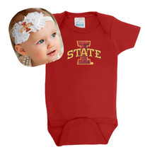 Iowa State Cyclones Baby Bodysuit and Shabby Bow Headband