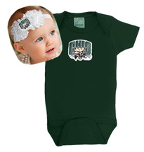 Ohio Bobcats Baby Bodysuit and Shabby Flower Headband set