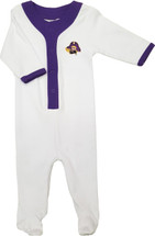 East Carolina Pirates Baby Long Sleeve Baseball Style Playsuit