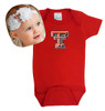 Texas Tech Red Raiders Baby Onesie and Shabby Bow Headband