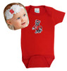 NC State Wolfpack Baby Bodysuit and Shabby Bow Headband