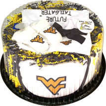 West Virginia Mountaineers Baby Fan Cake Clothing Gift Set