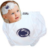 Penn State Nittany Lions Baby Eyelet Diaper Cover and Shabby Bow Headband