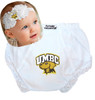 UMBC Retrievers Baby Eyelet Diaper Cover and Shabby Bow Headband