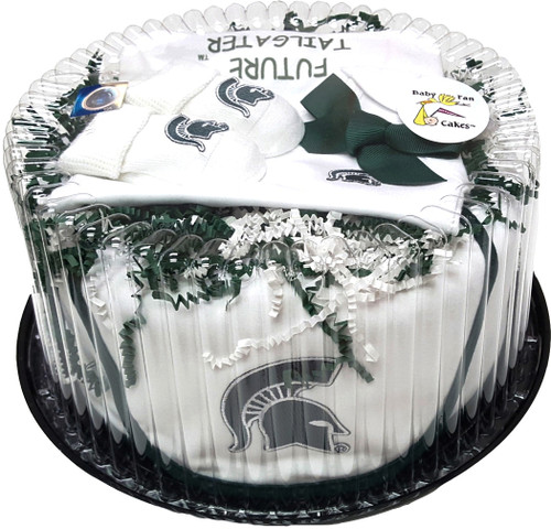 Michigan State Spartans Baby Fan Cake Clothing Gift Set