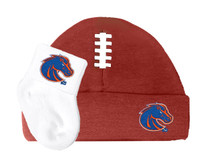 Boise State Broncos Baby Football Cap and Socks Set