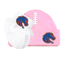 Boise State Broncos Baby Football Cap and Socks with Lace Set
