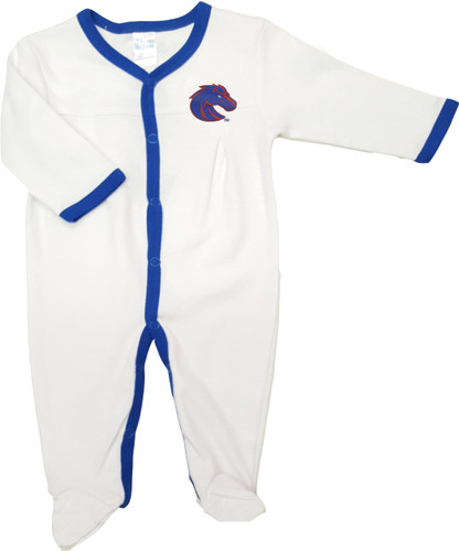 Boise State Broncos Baby Long Sleeve Pleated Playsuit