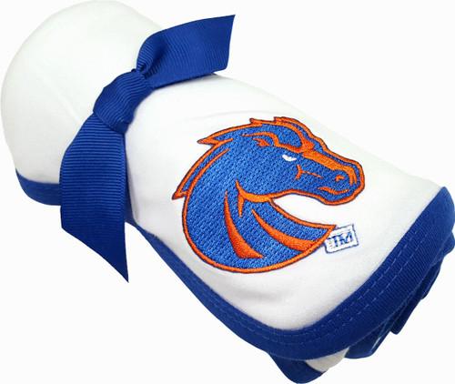 Boise State Broncos Baby Receiving Blanket