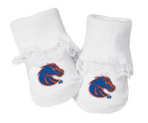 Boise State Broncos Baby Toe Booties with Lace