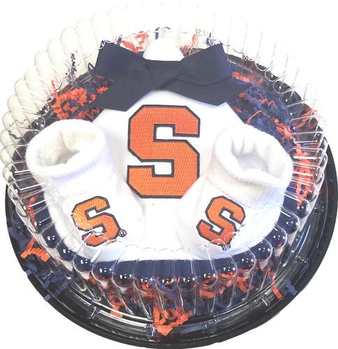 Syracuse Orange Piece of Cake Baby Gift Set