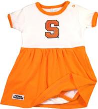 Syracuse Orange Bodysuit Baby Dress - Orange Trim