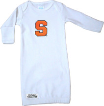 Syracuse Orange Baby Layette Gown - White