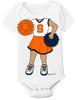 Syracuse Orange Heads Up! Cheerleader Baby Onesie