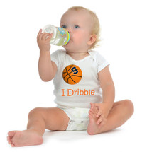 "Syracuse Orange Basketball ""I Dribble"" Baby Onesie"