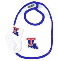 Louisiana Tech  Baby Bib and Socks Set