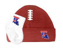 Louisiana Tech Baby Football Cap and Socks  Set
