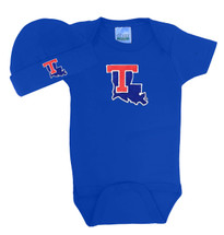 Louisiana Tech Baby Bodysuit and Cap Set