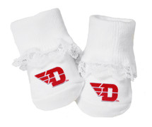 Dayton Flyer Baby Toe Booties with Lace