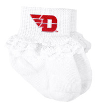 Dayton Flyers Baby Laced Sock Booties