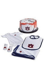 Auburn Tigers Baby Fan Cake Clothing Gift Set