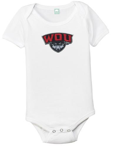 Western Oregon Wolves Team Spirit Baby Onesie