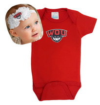 Western Oregon Wolves Baby Bodysuit and Shabby Bow Headband