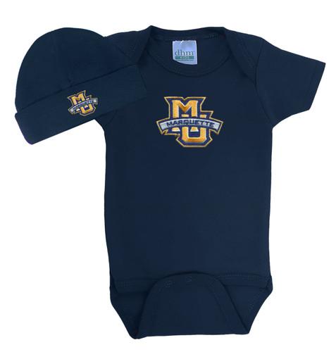 Marquette Golden Eagles Baby Bodysuit and Cap Set