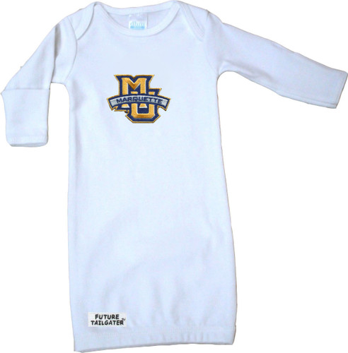 Marquette Golden Eagles Baby Layette Gown