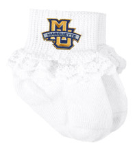 Marquette Golden Eagles Baby Laced Sock Booties