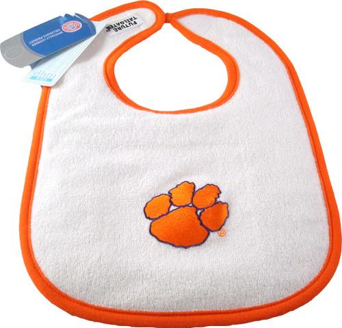 Clemson Tigers 2 Ply Baby Bib