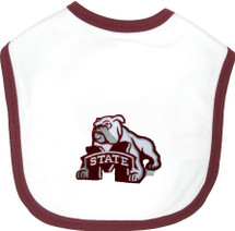 Mississippi State Bulldogs 2 Ply Baby Bib