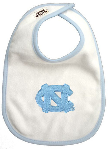 North Carolina Tar Heels 2 Ply Baby Bib