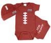 Louisiana Ragin Cajuns Touchdown Football Bodysuit and Cap Baby Set