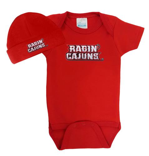 Louisiana Ragin Cajuns Baby Bodysuit and Cap
